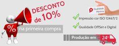 Venha imprimir seu material na Papira e receba 10% de desconto em sua primeira compra. http://www.papira.com.br/grafica-online-desconto-primeira-compra