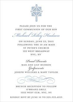 Blue Ornate Scroll Invitations