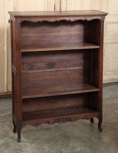 Antique Country French Bookshelf   From a unique collection of antique and modern bookcases at http://www.1stdibs.com/furniture/storage-case-pieces/bookcases/antique-country-french-bookshelf/id-f_1029154/#