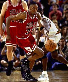 Scottie Pippen wearing Nike Air Uptempo