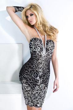 Baccio Jessy Painted Short Dress