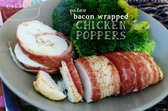 Paleo Bacon Wrapped Spicy Chicken Poppers recipe #whole30 #paleo #freezercooking