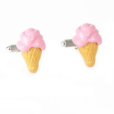 A fun cufflink set for Easter, or any other spring event or party. These pink ice cream cone cufflinks will make a fun statement to your outfit.  The best part is the affordable price of $45. #icecream #cufflinks #pink #clothes #easter #outfit #menswear #fashion #sunday #best #accessories #jewelry #shirt #suit