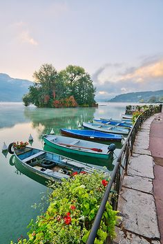 Annecy lake and the Swans Island