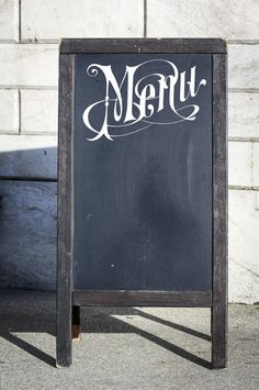 Menu Decal for Chalkboard Kitchen Menu DIY Wedding Menu