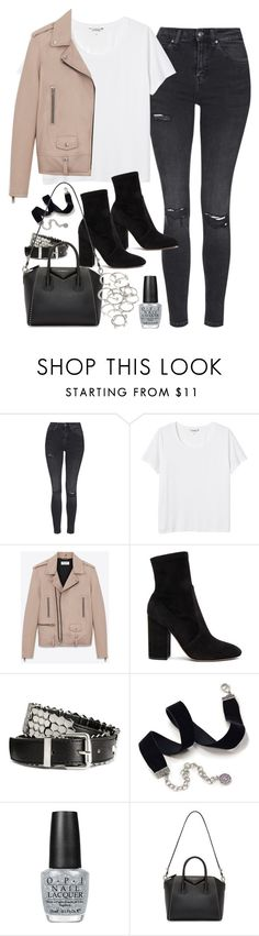 """Untitled #158"" by simonakolevaa ❤ liked on Polyvore featuring Topshop, Monki, Yves Saint Laurent, Valentino, H&M, Sweet Romance, OPI, Givenchy and Forever 21"