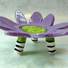 colorful ceramic purple dish  home decor by maryjudy on Etsy, $25.00