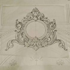 No photo description available. Textile Pattern Design, Textile Patterns, Pattern Art, Embroidery Patterns, Wood Carving Patterns, Carving Designs, Home Confort, Marble Art, Scroll Design