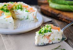 Cheesecake salata con ricotta zucchine e salmone vickyart arte in cucina