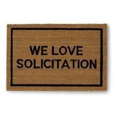 We Love Solicitation Coir Doormat