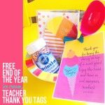 Free End of Year Teacher Thank You Ice Cream Printable Tags :: Laura Winslow Photography