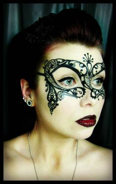 Venetian mask painted face