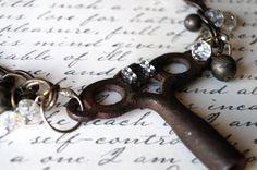 Rusty Bling key necklace www.vault31.blogspot.com