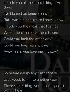 "Oh Hootie... this one cuts DEEP. #loveyouanyway #truth ""If I Told You"" -Darius Rucker"