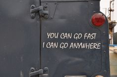 Fast & Anywhere : Spotted on a Land Rover Series 2, Malta 2013 #landrover #words