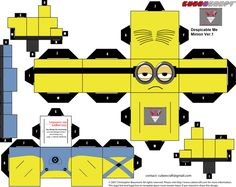 Despicable Me Minion Cubee template version 1 by lovefistfury.deviantart.com on @deviantART