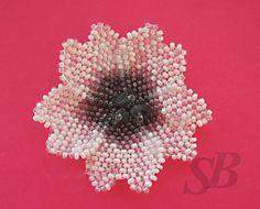 Flower - schema for brick stitch petal ~ Seed Bead Tutorials