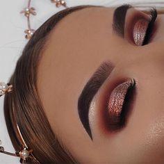 #Makeup Trendy Makeup Ideas : Eyes: Huda Beauty Евгений Худин Desert Dusk palette using the shades...