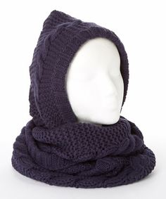 Peacoat Cable-Knit Oversize Snood