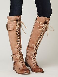 Jeffrey Campbell Free People Clothing Boutique > High Plains Boot from Free People. Saved to Things I want as gifts. Tall Boots, Lace Up Boots, Long Boots, High Boots, High Heels, Cute Shoes, Me Too Shoes, Bootie Boots, Shoe Boots