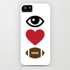 #Society6                 #love                     #Love #Football #iPhone #iPod #Case #LookHUMAN      Eye Love Football iPhone & iPod Case by LookHUMAN                             http://www.seapai.com/product.aspx?PID=1557588