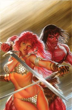 Red Sonja and Conan by Alex Ross