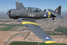 A North American Texan in South African colors. South African Air Force, Military Flights, African Colors, Air Force Aircraft, Metal Birds, Jet Plane, Aviators, Texans, Military Aircraft