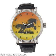 Pferd - Mustang Uhr