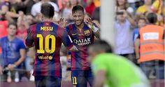 Messi & Neymar beyond outstanding, says Barcelona sporting director Andoni Zubizarreta Messi And Neymar, Lionel Messi, Messi 2015, Granada, Barcelona, Football, Sayings, Dan, Amazing