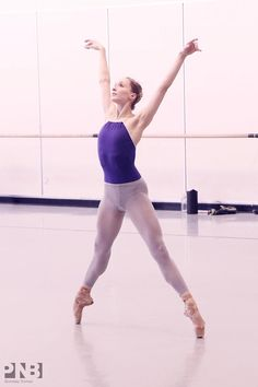 Elizabeth Murphy of PNB in rehearsal for Dancing on the Front Porch of Heaven Photo by Lindsay Thomas