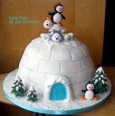 Love this cake Christmas Cake Designs, Christmas Cake Decorations, Christmas Desserts, Christmas Treats, Cupcakes, Cupcake Cookies, Igloo Cake, Penguin Cakes, Animal Cakes