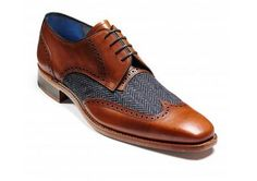 Barker Jackson is a stylish alternative to a more full brogue.  http://www.robinsonsshoes.com/barker-jackson.html