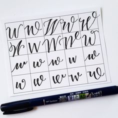 20 ways to write the letter W by @letteritwrite • see also the video of her writing the letters