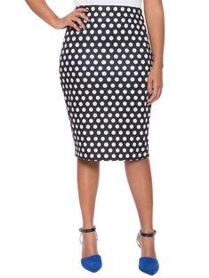 Printed Pencil Skirt | Women's Plus Size Skirts | ELOQUII