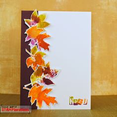 Card by Shirley featuring Trendy Leaves - Stamp Release Blog Hop Day 5