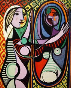 """Pablo Picasso's mistress, Marie-Thérèse Walter, was the subject of """"Girl Before A Mirror"""" (Oil on canvas, March 1932), which is on display at New York's Museum of Modern Art."""