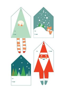 Free Printable Gift tags for the Holidays from Smallful.com