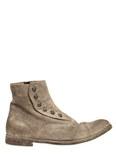 OFFICINE CREATIVE VINTAGE SUEDE GHETTA CROPPED BOOTS. #officinecreative #shoes #
