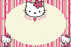 Hello Kitty with Flowers: Free Printable Invitations. Hello Kitty Backgrounds, Blog Backgrounds, Hello Kitty Wallpaper, Hello Kitty Fotos, Hello Kitty Imagenes, Hello Kitty Invitation Card, Birthday Tarpaulin Design, Hello Kitty Pictures, Birthday Tags