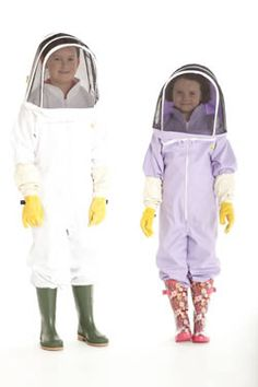 Get them involved - bee-keeping suits for kids.