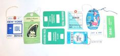 Vintage airline tags
