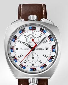 OMEGA Watches: Seamaster Bullhead Co-Axial Chronograph 43 x 43 mm - Steel on leather strap