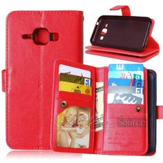 Luxury Retro Leather Case For Samsung Galaxy J1 J100 Stand Card Holder Phone Bag Case For Cover Samsung J1 J100 With Card Holder