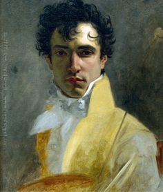 Portrait of Unknown Man, 1800's. A dashing spirit - I wonder who he was - I strongly suspect this is a self portrait.