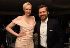 On Game of Thrones, Brienne of Tarth (Gwendoline Christie) and Jaime Lannister (Nikolaj Coster-Waldau) are enemies with a grudging respect for each other (and, if fans are to be believed, are also deeply in love). In real life, though, Christie and Coster-Waldau are buddies, and they hung out at HBO's Golden Globes afterparty Sunday night. Don't worry, Jaime/Brienne 'shippers, the reunion is everything you dreamed it would be: Awww and everything, but shouldn't you be in Europe shooting…