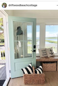 Refreshing home design with a coastal living theme and beach house style perfect inspirations for summer home updates Image 41 - /. Beach Cottage Style, Coastal Cottage, Coastal Homes, Cottage Homes, Beach House Decor, Beach House Interiors, Coastal Farmhouse, House On The Beach, Beach Homes