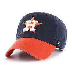 4fb72256678 Houston Astros 47 Brand Navy Orange Clean Up Adjustable Hat