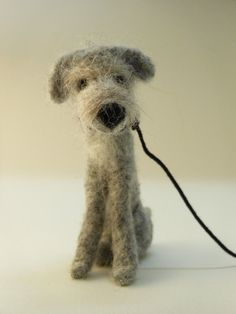 Needle Felted Irish Woolfhound 'Old Tom'   The perfect pet for my Blythe girls!  soooooo cute
