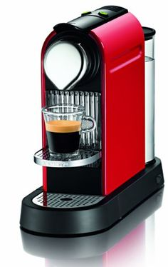 FOR SALE Nespresso Citiz C110-us-re Household Espresso Coffee Maker, Fire Engine Red with 16 Startup Coffee Sampler