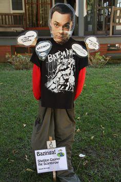 Bazinga! Sheldon Cooper scarecrow in Cape May, NJ